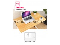 Multifunctional Portable Easy Lifting Laptop Table Computer Desk Height Adjustable with Wheels (60cm x 40cm)