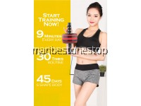 COMBO YELLOW AB ROLLER 9219 AND PUSH UP STAND 9224 FOR ABS TRAINING ROLLER WHEEL