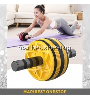 YELLOW AB ROLLER 9219 FOR ABS TRAINING CORE MUSCLE ROLLER WHEEL
