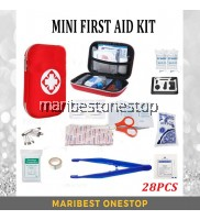 28PCS Portable Lightweight First Aid Kit for Outdoor Home Emergency Survival Bag