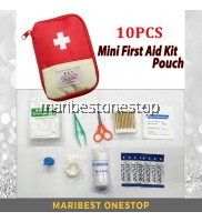 10PCS Portable Lightweight First Aid Kit for Outdoor Home Emergency Survival Bag Pouch