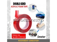 Double-Sided Acrylic Foam Tape Transparent Super Strong Heavy-Duty Adhesive Tape 12mm/18mm/25mm