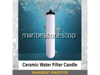 """10"""" Ceramic Water Filter Candle Water Filtration Candle Dirt Remover Parasites Prevention"""