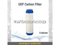 "10"" UDF 5 Micron Carbon Block Water Filter Cartridge Water Purifier"