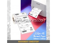 100mm*150mm*330pcs/roll Barcode Label Thermal Paper Sticker tear line shipping waybill courier
