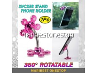 1PC Sucker Suction Cup Stand 360° Flexible Car Smartphone Mobile Phone Holder Random Color 7055
