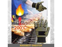1PC Anti-Heat Fire Resistant Up to 200°C Glove BBQ Oven Cooking Grilling Multipurpose Glove