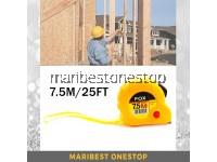 7.5M / 25FT Measuring Tape Pita Pengukur with Wrist Strap for Construction