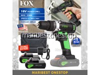 FOX 18V-2LI Cordless Power Drill Screwdriver with 2 Battery Pack