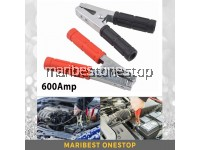 2PCS 600Amp Black Red Insulated Car Battery Clip Earth Clamp Crocodile Alligator Clips