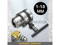 1-10MM Drill Chuck 3/8-24UNF with Chuck Key for Drill Power Tools