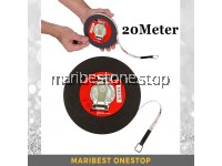 20M Round Fiberglass Measuring Tape Retractable Band Measure Metric Scale Tool