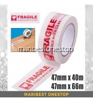 47mm x 40m / 47mm x 66m Adhesive Warning Fragile OPP Tape Warning Packing Tape