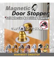 1PC Mimosifolia Round Magnetic Stainless Steel Door Stopper Door Holder Door Block Wall Floor Mount