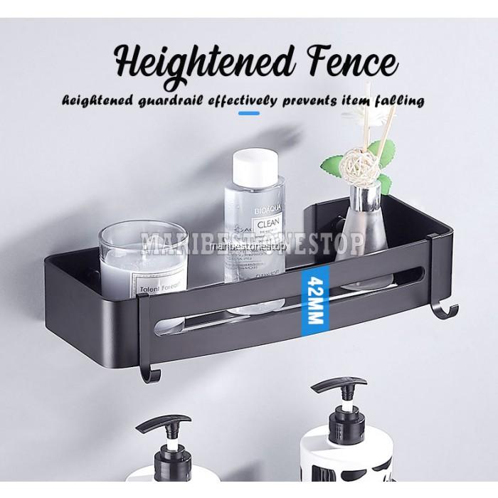 Aluminium Alloy Wall Mounted Bathroom Shelf Shampoo