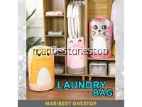 Laundry Bag Cartoon Design Clothes Wash Drawstring Storage Bag Waterproof RANDOM COLOUR