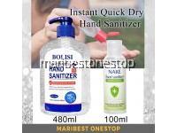 100ML NAKE 480ML BOLISI Disposable Hand Sanitizer Quick Dry 70% 75% Ethanol Alcohol Wash Free Antibacterial Sanitizer Gel