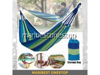 Multifunctional Hammock Outdoor Indoor Camping Picnic Swing Sleeping Bed Buaian Kain (Random Color)