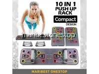 FOLDABLE 10 IN 1 PUSH UP RACK BOARD SYSTEM MEN WOMEN EXERCISE WORKOUT COMPACTED DESIGN PUSH UP BOARD