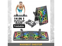 FOLDABLE 14 IN 1 PUSH UP RACK BOARD SYSTEM MEN WOMEN EXERCISE WORKOUT COMPACTED DESIGN PUSH UP BOARD
