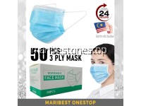 50PCS (READY STOCK) - 3 PLY NON-WOVEN DISPOSABLE FACE MASK