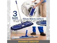 Detachable Flat Mop Industrial Mop Removable Washable Pad Reusable Wall Hanging Dust Mop 60cm/80cm/100cm RANDOM COLOUR