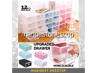[12PCS PER SET] 32CM PULL DRAWER DESIGNED CROWN STACKABLE SHOE BOX SOLID HARDERNED ORGANIZER FOLDABLE STORAGE BOX