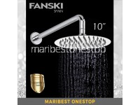 10 Stainless Steel Shower Head Rainfall Shower Head Ultra Thin Large ROUND SHOWER HEAD OR SHOWER ARM