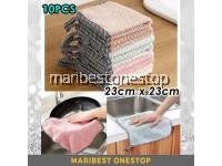 23CM X 23CM 10PCS Hanging Kitchen Hand Towel Cleaning Cloth Dish Towel Coral Fleece Wipe Cloth Random Color