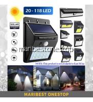 Wall Light OR Torch Light Led COB Waterproof PIR Solar Sensor Wall Light Motion Sensor Solar Led Light Lampu Solar Lampu