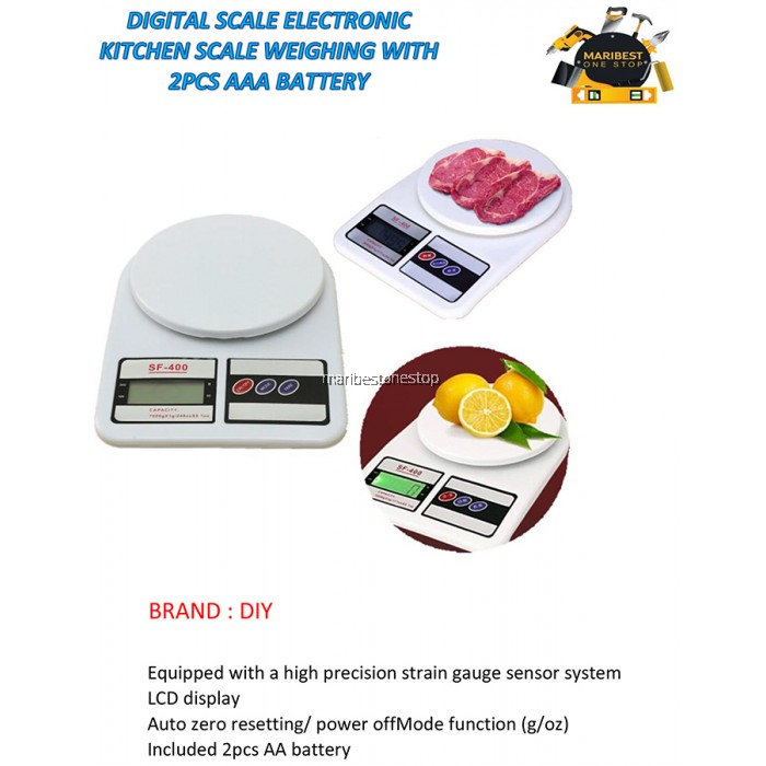 SF-400 Digital Scale Electronic Kitchen Scale With 2pcs AAA