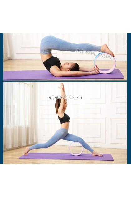 Yoga Wheel Foam Body Back-Bend Stretching Fitness Massage Roller RANDOM COLOUR