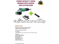 "HITACHI G10SS2 4"" ANGLE GRINDER WITH HANDLE AND CUTTING BASE"