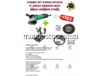 "COMBO SET G10SS2 HITACHI 4"" ANGLE GRINDER WITH ANGLE GRINDER STAND FREE 10PCS 4"" CUTTING DISC & 40T CIRCULAR SAW BLADE"
