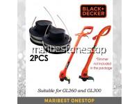 2PCS RS300 BLACK & DECKER SPOOL &LINE - 5170001-39 FOR GL300/GL260 TRIMMER GRASS