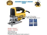 DW349R DEWALT JIGSAW 500W FOC RANDOM TWINPACK 5PCS JIGSAW BLADES