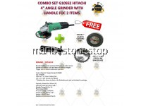 """COMBO SET G10SS2 HITACHI 4"""" ANGLE GRINDER WITH HANDLE FOC 1PC 4"""" X 40T CIRCULAR SAW AND 10PC CUTTING DISC"""