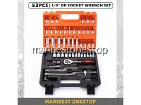 SATAGOOD G-10025 53PCS ¼ Dr Socket Ratchet Wrench Set Repair Tool Kit