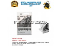 BOSCH 1609200201 HSS-R DIN338 METAL DRILL BIT SET 1.5MM - 6.5MM (13-Piece)