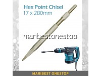 17MM x 280MM Heavy Duty Hex Chisel Point Makita Chisel 0810