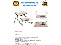 MULTIFUNCTION A8 LAPTOP FOLDABLE PORTABLE TABLE WITH LARGE USB FAN