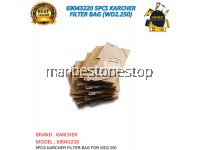 69043220 5PCS KARCHER FILTER BAG (WD2.250)