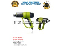 WU045 WORX 2000W HEAT GUN, HOT AIR GUN (1 YEAR WORX WARRANTY)
