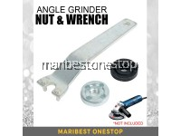 Angle Grinder Nut and Wrench Set with Inner Flange Spanner and Outer Lock Nut Tool
