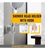 Hand Shower Head Holder Self Adhesive Bracket Bathroom Adjustable Waterproof Wall Mounted Base Easy Installation