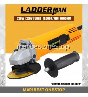 """Ladderman LDM-DW-810 Angle Grinder 720W 4""""/100mm Cutting Tools with Toggle Switch"""