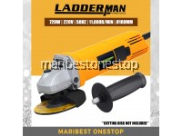 "Ladderman LDM-DW-810 Angle Grinder 720W 4""/100mm Cutting Tools with Toggle Switch"