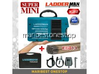 LADDERMAN MMA-300A/LT MINI INVERTER WELDING MACHINE ARC WELDING WITH E6013 WELDING ROD ELECTRODES