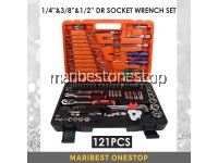 "SATAGOOD G-10003 121PCS 1/4"" & 3/8"" & 1/2"" Dr Socket Ratchet Combination Spanner Wrench Set Repair Tool Kit"