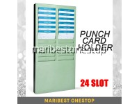 24 Slot Employee Time Recorder Punch Card Holder Rack Employee Attendance Punch In Clock Out Card Holder Rack